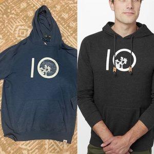 Tentree ten hoodie sz L teal blue